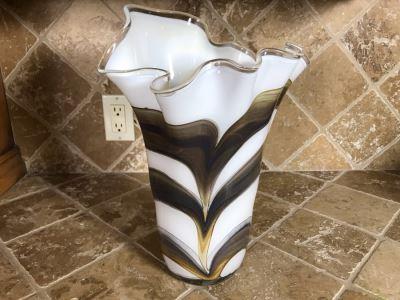 Art Glass Vase 15H