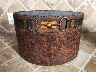 Decorative Lidded Belt Box 15W X 11D X 9.5H Retails $58