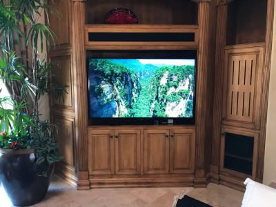 SONY BRAVIA 65' LCD TV Model XBR-65X850A With TV Stand, Four 3-D Glasses And Remote Control