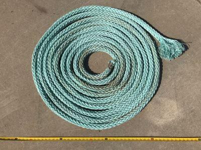 Long Braided Nylon Nautical Rope 50' Long X 1.5' Thick