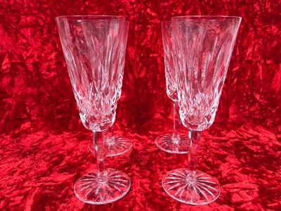 JUST ADDED - Set Of Four Waterford Crystal Blown Glasses Stemware 7 5/8H (MOE)