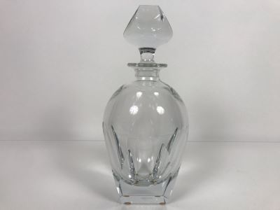 JUST ADDED - Vintage Mid-Century Modern Moser Hand Blown Bar Crystal Liquour Decanter Made In Czechoslovakia 11.5H Retails New $965 (MOE)