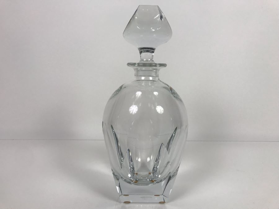 JUST ADDED - Vintage Mid-Century Modern Moser Hand Blown Bar Crystal Liquour Decanter Made In Czechoslovakia 11.5H Retails New $965 (MOE) [Photo 1]