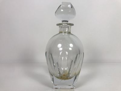 JUST ADDED - Vintage Mid-Century Modern Moser Hand Blown Bar Crystal Liquour Decanter Made In Czechoslovakia 11H Retails New $965 (MOE)