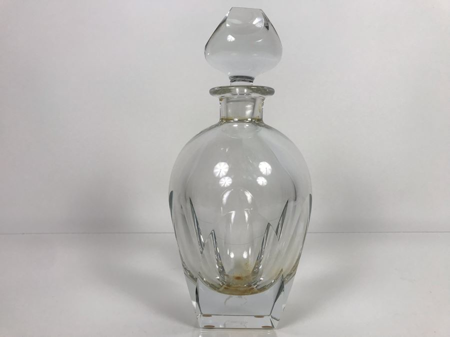 JUST ADDED - Vintage Mid-Century Modern Moser Hand Blown Bar Crystal Liquour Decanter Made In Czechoslovakia 11H Retails New $965 (MOE) [Photo 1]