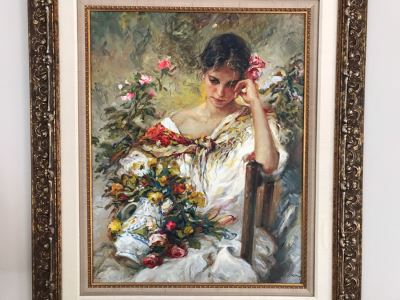 JUST ADDED - José Royo Hand Signed Limited Edition Serigraph In Stunning Frame 28W X 36H (MOE)