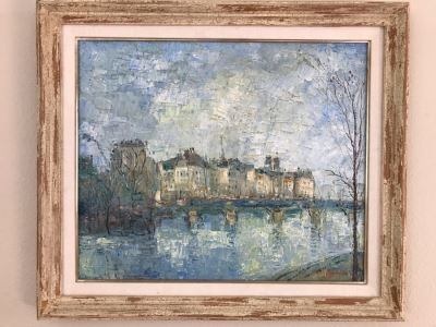 JUST ADDED - Original Henri Auguin Paris France Oil Painting In Frame (MOE)