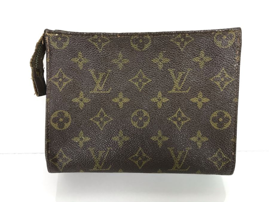 JUST ADDED - Vintage Lois Vuitton Leather Cosmetic Bag 7W X 2D X 6H (MOE) [Photo 1]