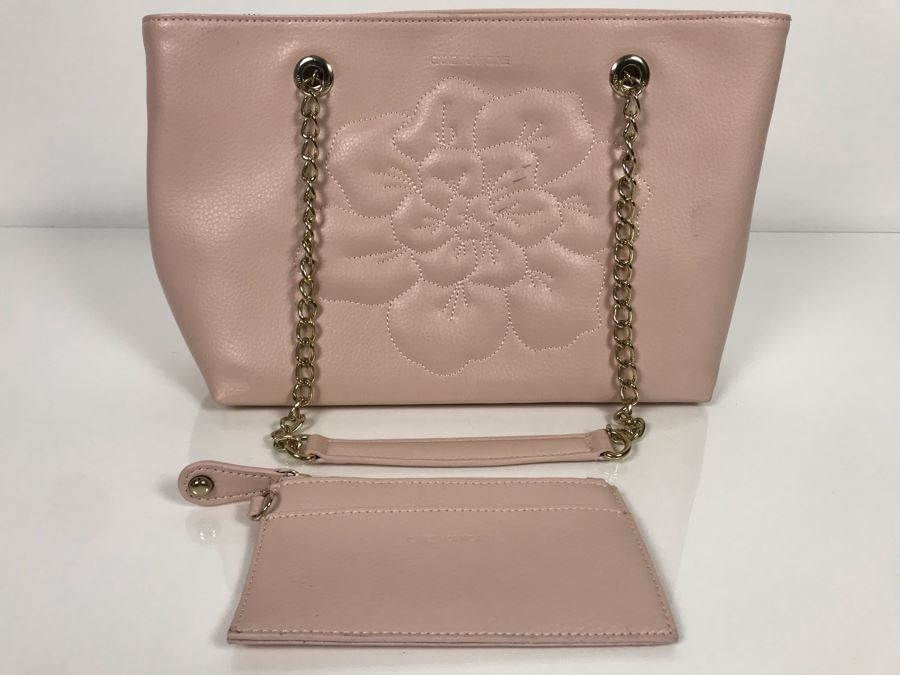 JUST ADDED - Anne Fontaine Floral Front Pink Leather Handbag (MOE) [Photo 1]