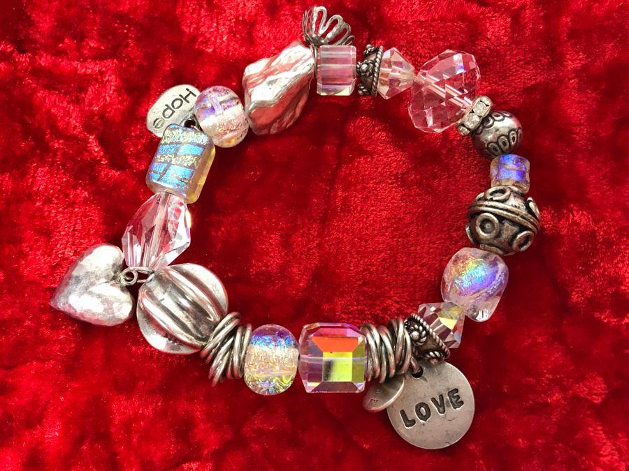 JUST ADDED - Sterling Silver Charm Bracelet 49.2 (MOE) [Photo 1]