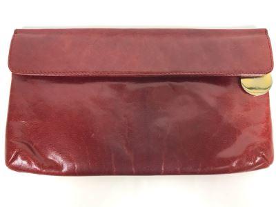 JUST ADDED - Vintage Charles Jourdan Leather Clutch Handbag 10W X 5.5H