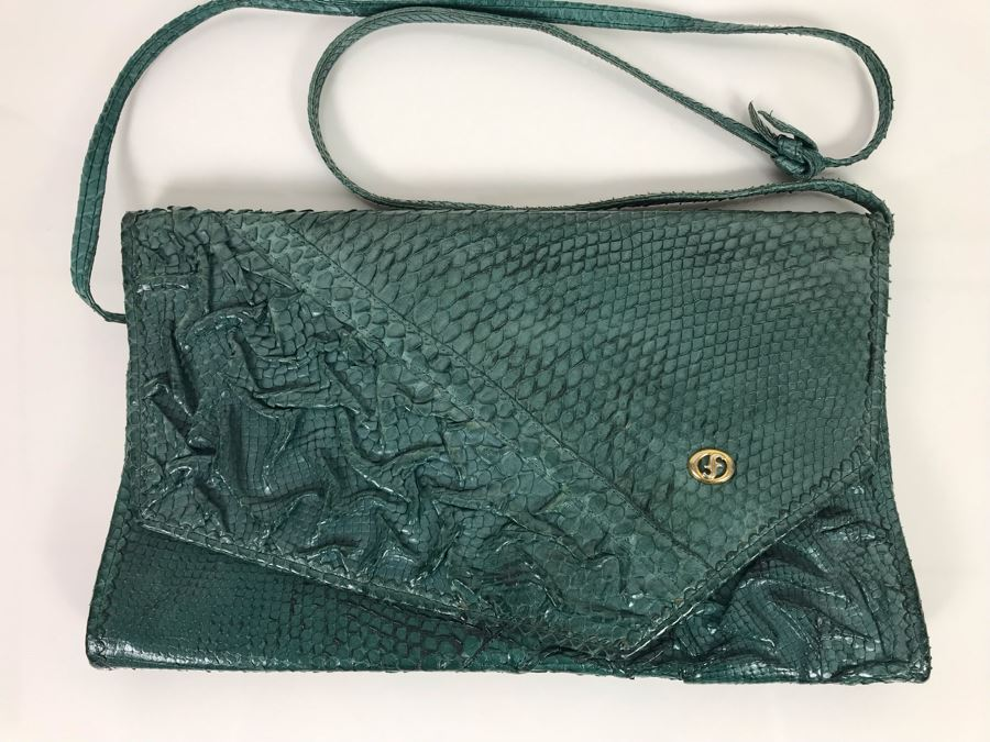 JUST ADDED - Vintage Carlo Fiori Italy Leather Handbag 12 X 8 [Photo 1]
