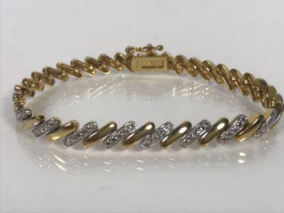 LAST MINUTE ADD - 24K Gold Over Sterling 7'L Bracelet 15.2g