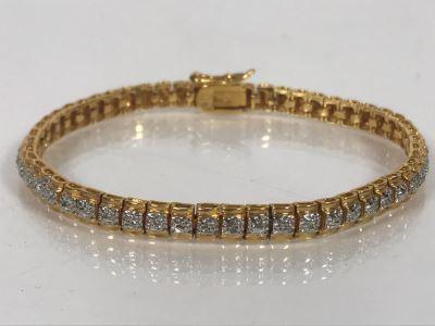 LAST MINUTE ADD - 24K Gold Over Sterling 7'L Bracelet 12g