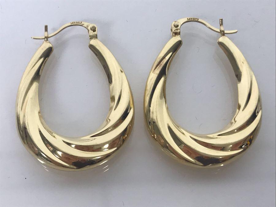 LAST MINUTE ADD - 14K Gold Earrings 3.2g [Photo 1]