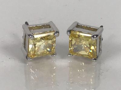 LAST MINUTE ADD - Sterling Silver CZ Earrings 3.1g