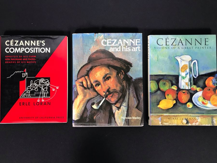 (3) Paul Cezanne Art Books (JKE)