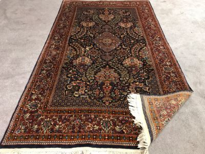 Impressive Wool And Silk Blend Persian Area Rug With Detailed Designs Over 300Knots/Sq In - 4'7' X 8' (OHE)