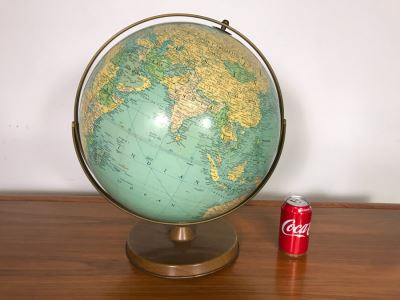 Vintage Mid-Century Replogle 16' Reference Globe (OHE)