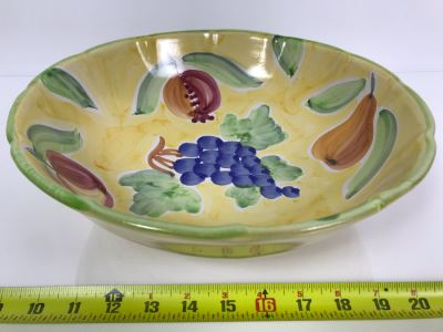 Large Italian Fruit Bowl By Solimene 12.5R