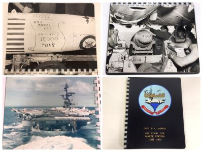 William H. Harris, RADM, USN (Ret.) Personal Cruise Book USS Coral Sea Yankee Station June 1972