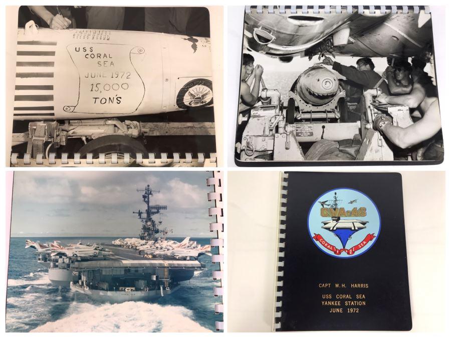 William H. Harris, RADM, USN (Ret.) Personal Cruise Book USS Coral Sea Yankee Station June 1972