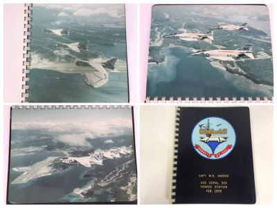 William H. Harris, RADM, USN (Ret.) Personal Cruise Book USS Coral Sea Yankee Station Feb 1972