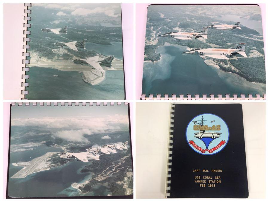 William H. Harris, RADM, USN (Ret.) Personal Cruise Book USS Coral Sea Yankee Station Feb 1972