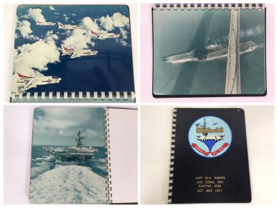 William H. Harris, RADM, USN (Ret.) Personal Cruise Book USS Coral Sea EASTPAC POM Oct Nov 1971