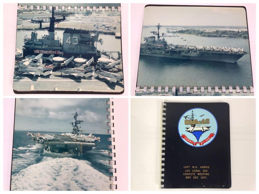 William H. Harris, RADM, USN (Ret.) Personal Cruise Book USS Coral Sea Enroute WESTPAC Nov Dec 1971