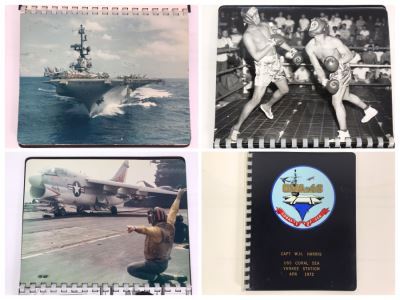 William H. Harris, RADM, USN (Ret.) Personal Cruise Book USS Coral Sea Yankee Station Apr 1972