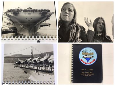 William H. Harris, RADM, USN (Ret.) Personal Cruise Book USS Coral Sea WESTPAC Departure 12 Nov 1971