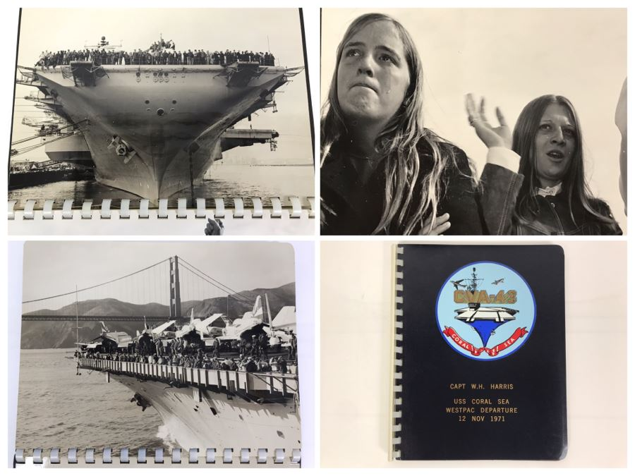 William H. Harris, RADM, USN (Ret.) Personal Cruise Book USS Coral Sea WESTPAC Departure 12 Nov 1971