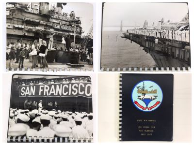 William H. Harris, RADM, USN (Ret.) Personal Cruise Book USS Coral Sea NAS Alameda July 1972