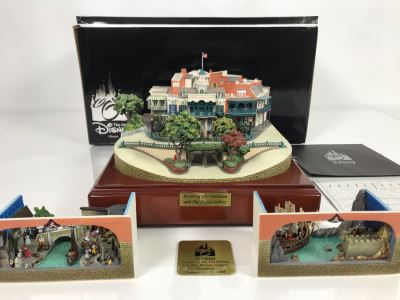 HAND SIGNED By Robert Olszewski First Edition Pirates Of The Caribbean And The Disney Gallery The Art Of Disney Theme Park Attraction Miniature Model With Box And 2 Scenes And Certificate Of Authenticity 9.5W X 10.5D X 6H DL1006 (Estimate $1,500-$2,000)