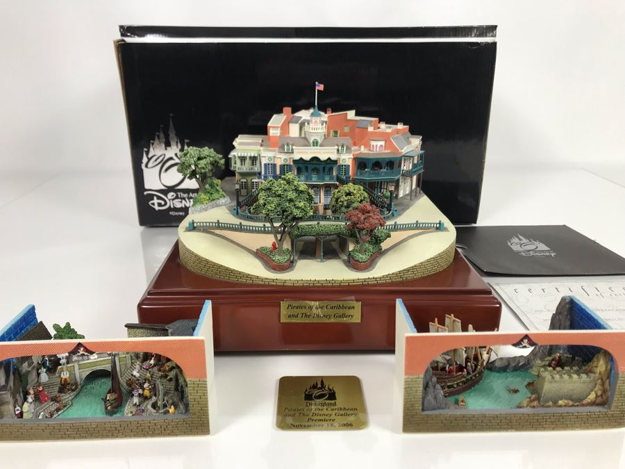 HAND SIGNED By Robert Olszewski First Edition Pirates Of The Caribbean And The Disney Gallery The Art Of Disney Theme Park Attraction Miniature Model With Box And 2 Scenes And Certificate Of Authenticity 9.5W X 10.5D X 6H DL1006 (Estimate $1,500-$2,000) [Photo 1]