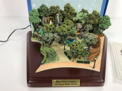 Disneyland Main Street, USA Collection: King Triton's Garden And Snow White Grotto Robert Olszewski Disney Theme Park Attraction Miniature Model With Box And Certificate Of Authenticity DL0016 13W X 12D X 4.75H (Estimate $600-$1,500)