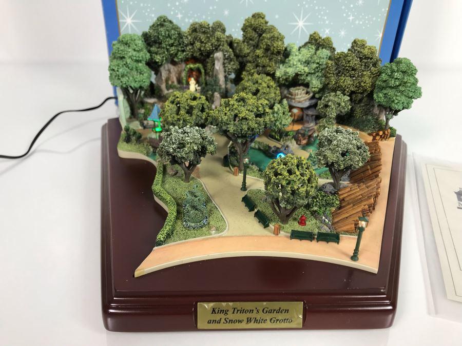 Disneyland Main Street, USA Collection: King Triton's Garden And Snow White Grotto Robert Olszewski Disney Theme Park Attraction Miniature Model With Box And Certificate Of Authenticity DL0016 13W X 12D X 4.75H (Estimate $600-$1,500) [Photo 1]