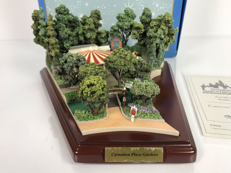Disneyland Main Street, USA Collection: Carnation Plaza Gardens By Robert Olszewski Disney Theme Park Attraction Miniature Model With Box And Certificate Of Authenticity DL0020 11W X 11D X 5H (Last One Sold For $3,300) [Photo 1]
