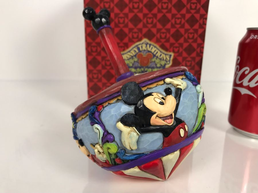 Walt Disney Showcase Collection Mickey Mouse Top 'Spinning Through The Years' From Jim Shore Disney Traditions Enesco 6'H 4016586 With Box [Photo 1]