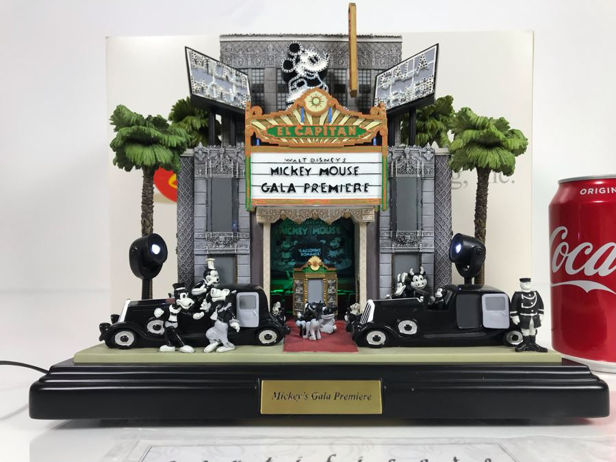 Robert Olszewski Limited Edition 500 Disney's 'Mickey's Gala Premiere' Sculpture Figurine With Certificate Of Authenticity And Box 10.5W X 7.5D X 8.5H [Photo 1]