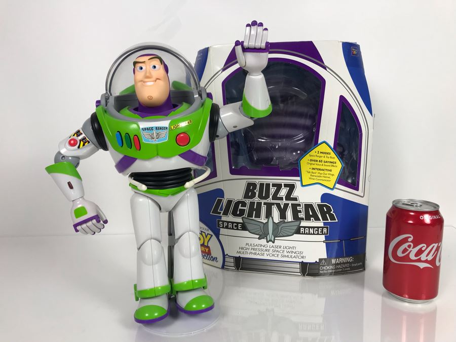 Disney PIXAR Toy Story Buzz Lightyear Space Ranger Certified Movie Replica Collector's Edition By Thinkway Toys With Box And Certificate Of Authenticity [Photo 1]