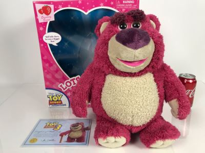 Disney PIXAR Toy Story 3 Lots-O'-Huggin' Bear Certified Movie Replica Collector's Edition By Thinkway Toys With Box And Certificate Of Authenticity