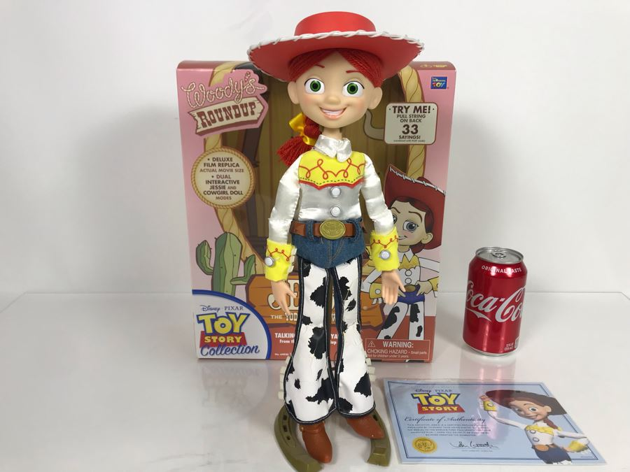 Disney PIXAR Toy Story Jessie Cowgirl Certified Movie Replica Collector's Edition By Thinkway Toys With Box And Certificate Of Authenticity [Photo 1]