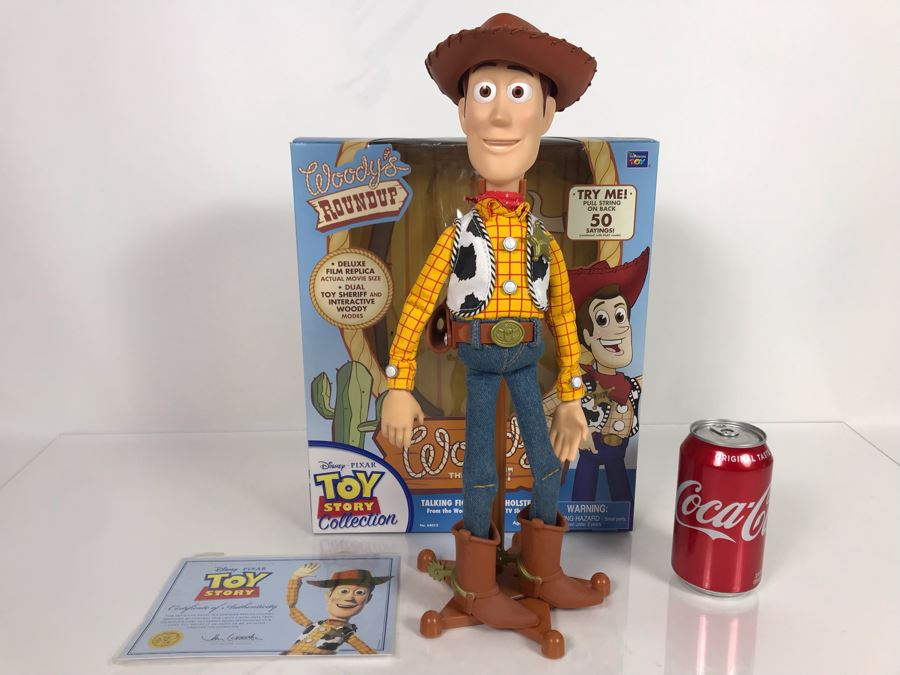 Disney PIXAR Toy Story Woody Cowboy Certified Movie Replica Collector's Edition By Thinkway Toys With Box And Certificate Of Authenticity [Photo 1]