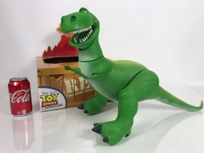 Disney PIXAR Toy Story T Rex Tyrannosaurus Dinosaur Certified Movie Replica Collector's Edition By Thinkway Toys With Box And Certificate Of Authenticity