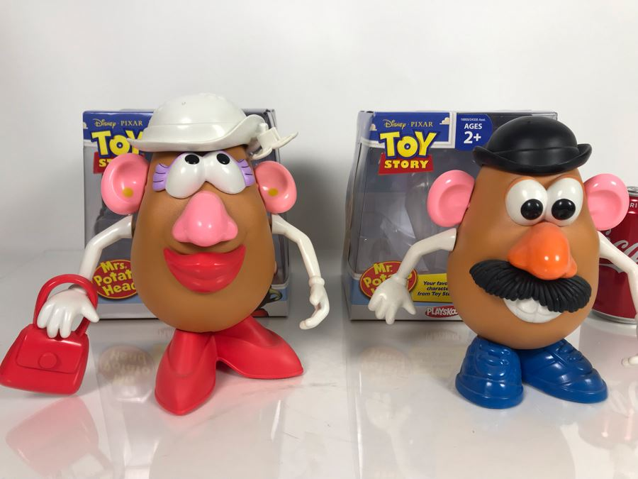 Disney PIXAR Toy Story Mr. Potato Head And Mrs. Potato Head By Playskol With Boxes [Photo 1]