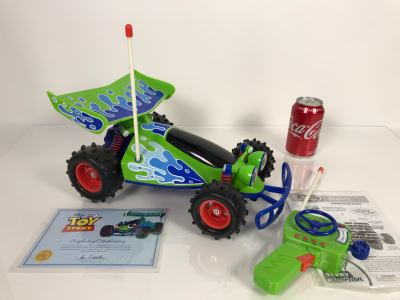 Disney PIXAR Toy Story Working RC Buggy Remote Control Vehicle Certified Movie Replica Collector's Edition By Thinkway Toys With Certificate Of Authenticity