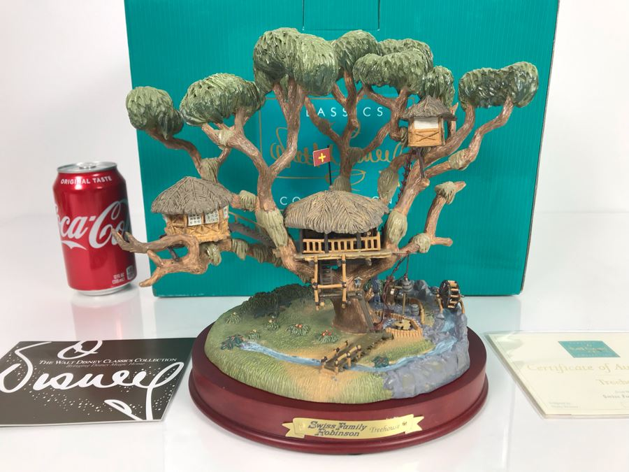 Limited Edition Walt Disney Treehouse From Walt Disney's Swiss Family Robinson Classics Collection With Box And Certificate Of Authenticity By Dusty Horner [Photo 1]