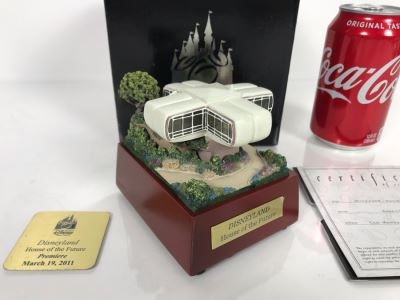 Rare HAND SIGNED By Robert Olszewski Cast Member Limited Edition 500 Disneyland's House Of The Future Attraction Miniature Replica With Certificate Of Authenticity And Box DL-2004